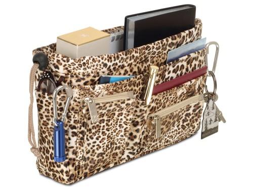 Luxury Handbag organiser in Leopard Print