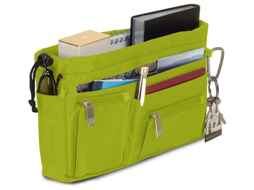 Handbag organiser in Lime