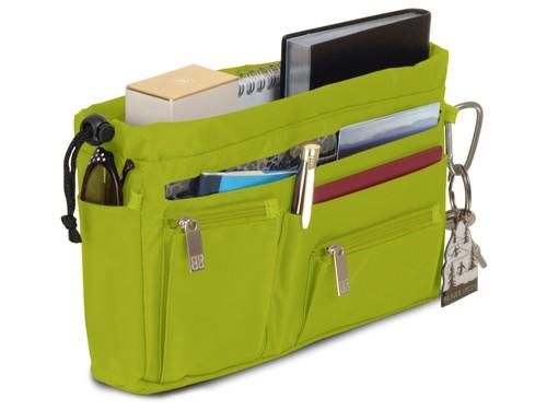 Handbag organiser in Lime