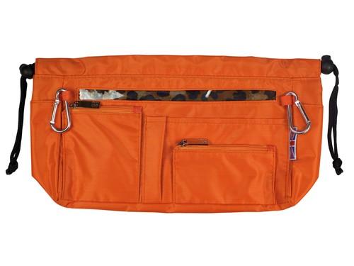 Handbag organiser in Tangerine