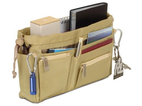 Handbag organiser in Pistachio