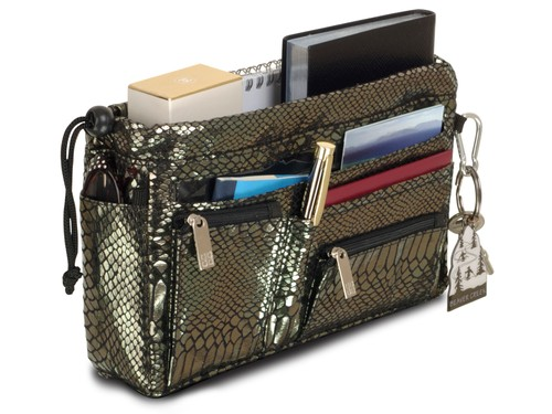 Luxury Handbag organiser in Pewter