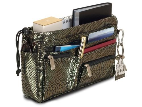 Luxury Handbag organiser in Pewter