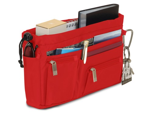 Handbag organiser in Red