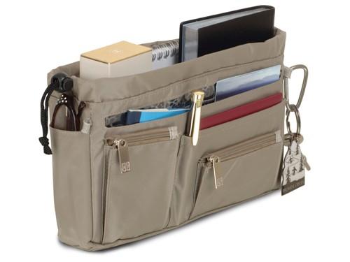 Handbag organiser in Taupe