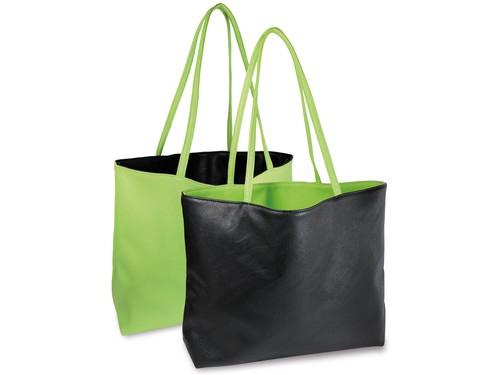 Reversible tote bag - green/black