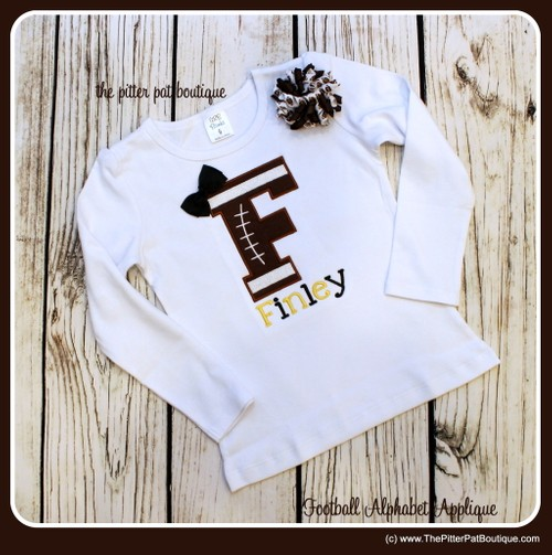 Foootball Initial Shirt or Onesie
