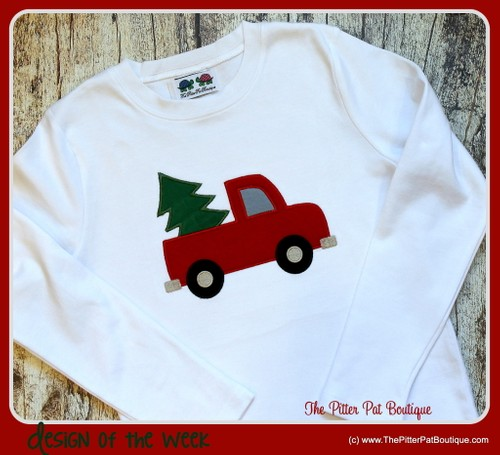 Truck with Christmas Tree Shirt