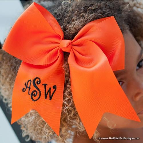 Monogrammed Hair Bows