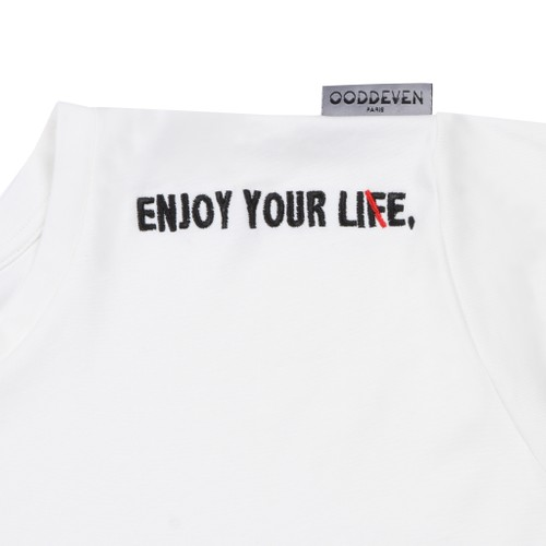 """2017 """"ENJOY YOUR LIE"""" EMBROIDERY T-SHIRT"""