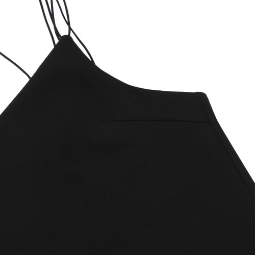2017 Black Sleeveless Top With Straps