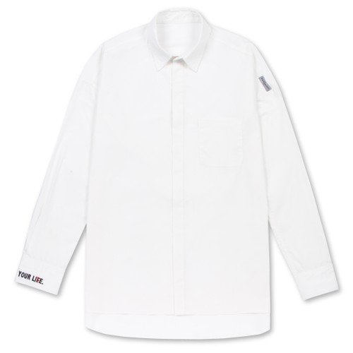 """2017 """"ENJOY YOUR LIE""""EMBROIDERED WHITE SHIRT"""