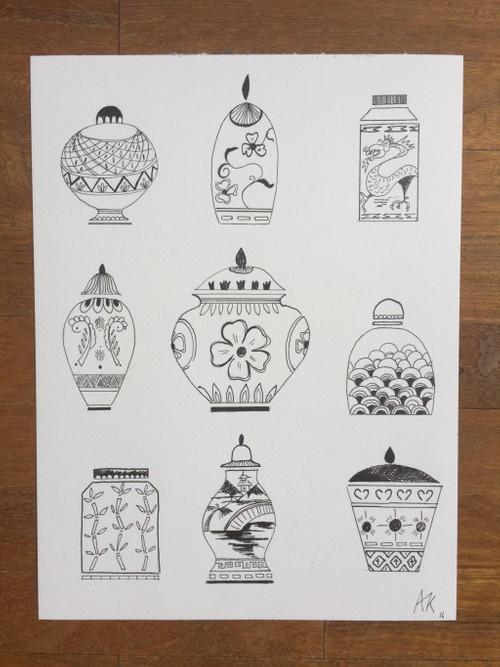 Jars Jars Jars, in black and white