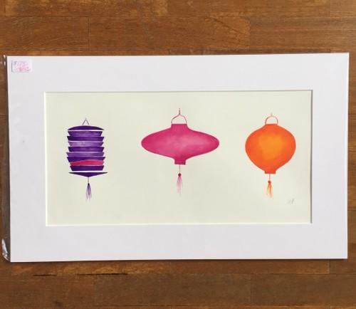 Three Lanterns in a row (orange)