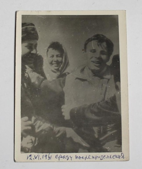 Yuri Gagarin Never Published Launch Day Soviet Photo