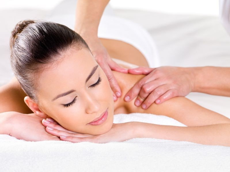 Woman Getting Shoulder Massage